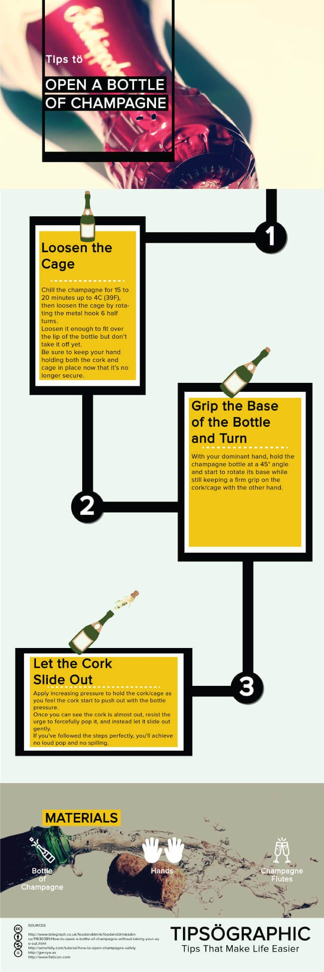 Tips to Open a Bottle of Champagne Safely Tipsographic Main