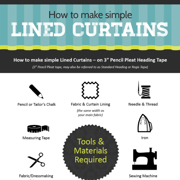 How To Make Simple Lined Curtains | Tipsographic