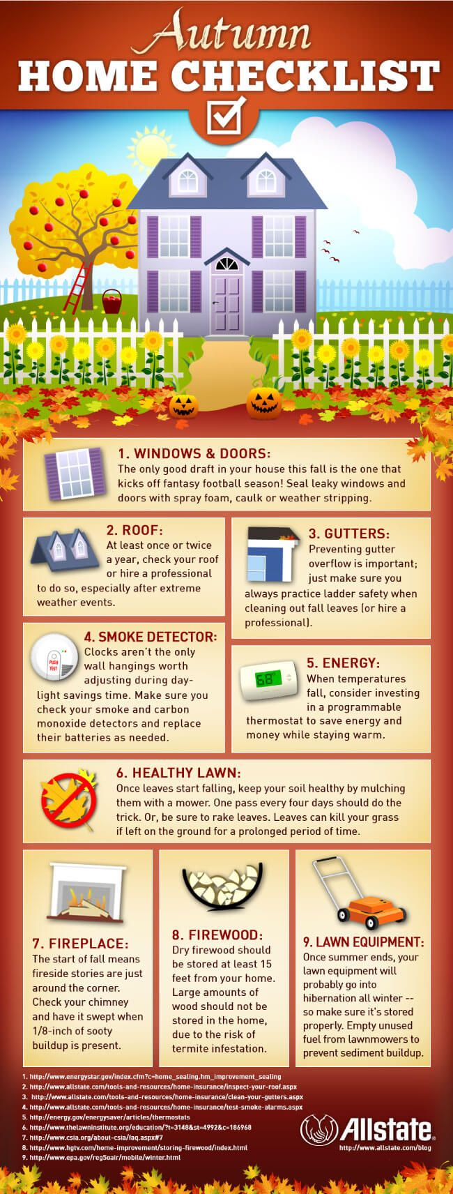 Tips to Perform the Best Autumn Home Checklist tips tipsographic