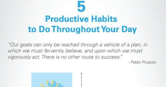 Thumbnail titled 'Best 5 Productive Habits to Do Throughout Your Day'