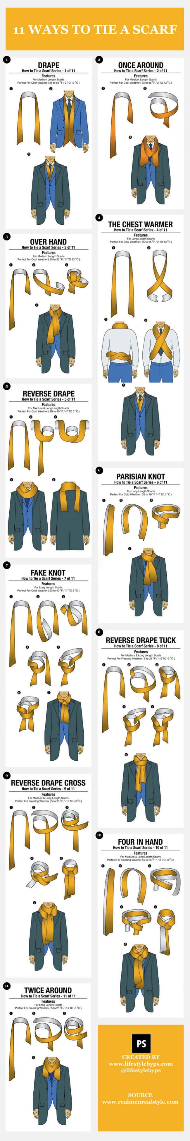 Image with title Tips to Tie a Scarf: 11 Simple Ways