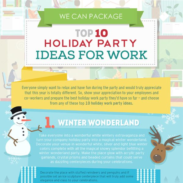 Top 10 Holiday Party Ideas For Work