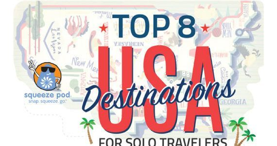 Thumbnail titled 'Tips to Travel Solo Across the 8 Best Destinations in the Usa'