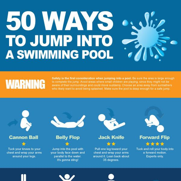 Tips To Jump Into A Swimming Pool In 50 Creative Ways