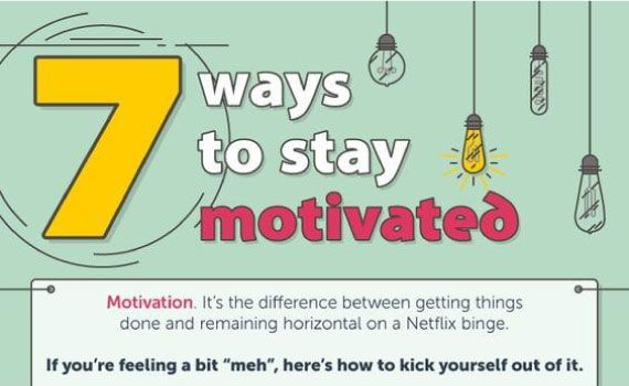 Tips to Stay Motivated in 7 Easy Ways tips tipsographic