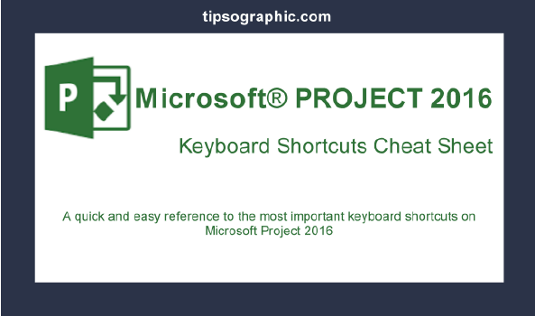 ms project key shortcuts