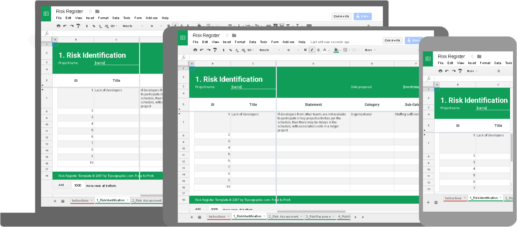 Image titled risk register template tipsographic rendering spreadsheet