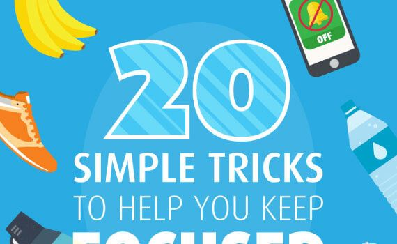 Thumbnail titled 20 simple tricks to help you keep focused while at work