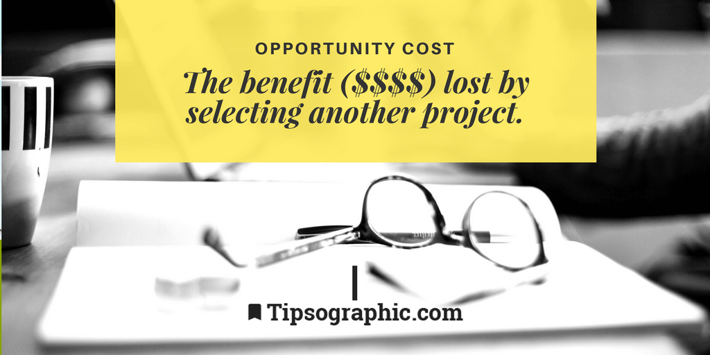 Image titled Opportunity Cost project management terms
