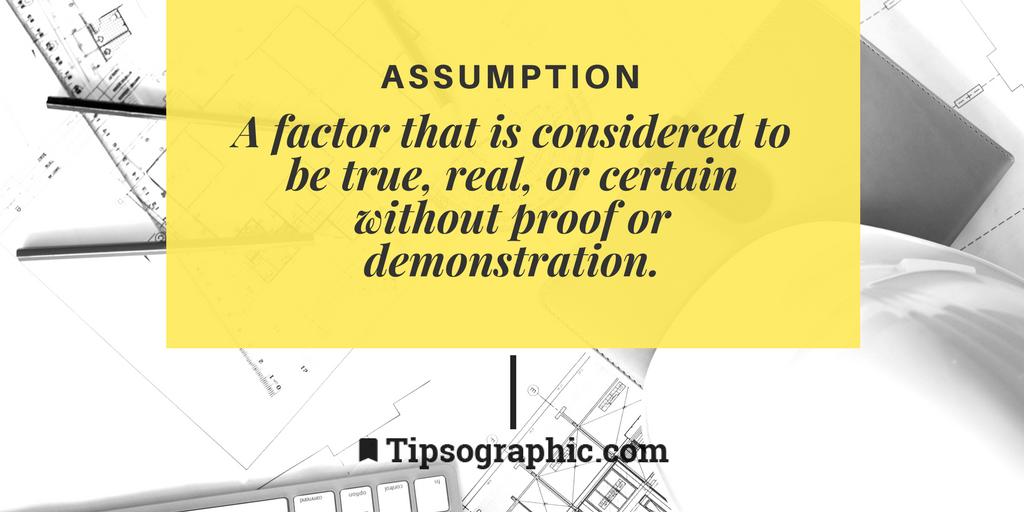 Image titled assumption project management terms