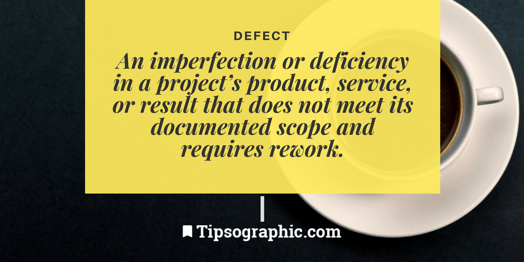 Image titled defect project management terms