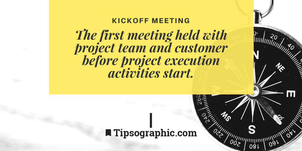 Image titled Kickoff Meeting project management terms