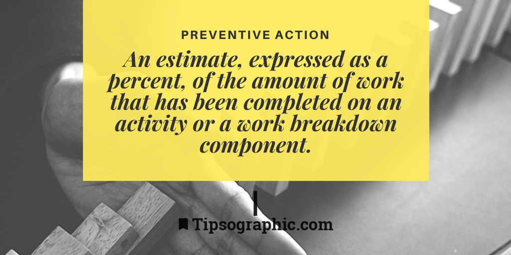 Image titled Preventive Action project management terms