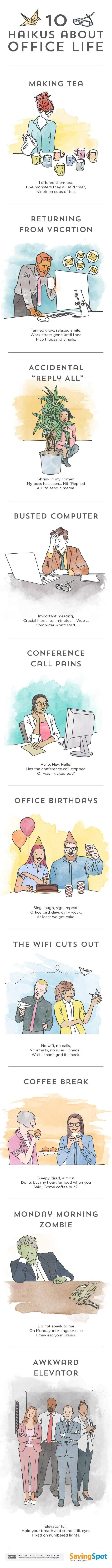 Image titled 10 haikus about office life