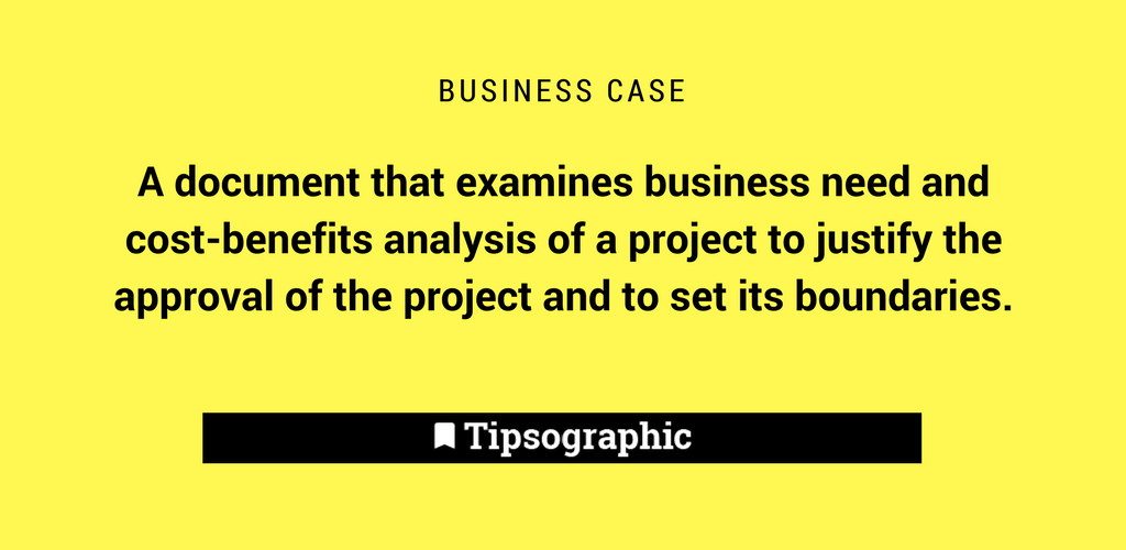 Thumbnail titled business case project management terms