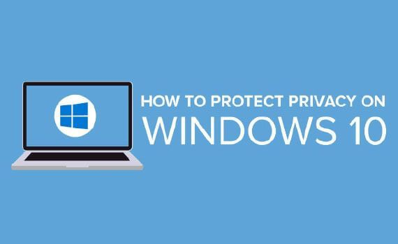 Thumbnail titled how to protect your privacy on windows 10