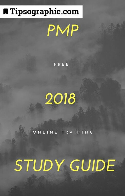 pmp 2018 study guide free online training tipsographic