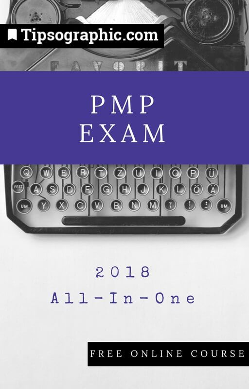 pmp exam 2018 all-in-one free online course tipsographic