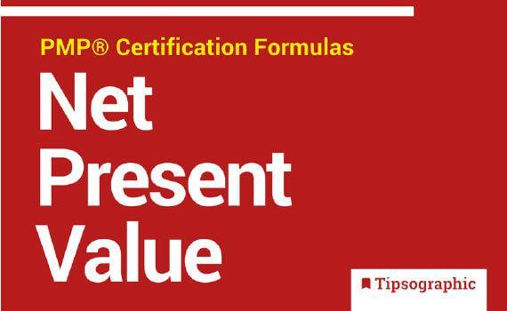 Thumbnail titled project management formulas net present value