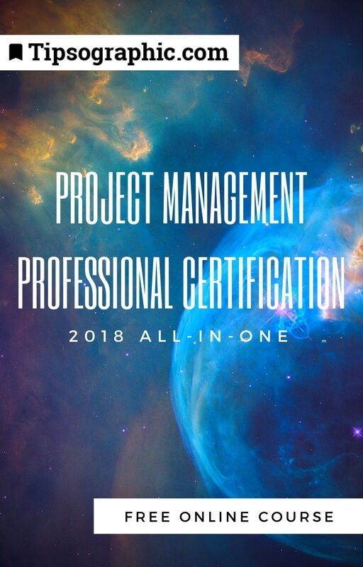 project management professional certification 2018 all-in-one free course preparation tipsographic