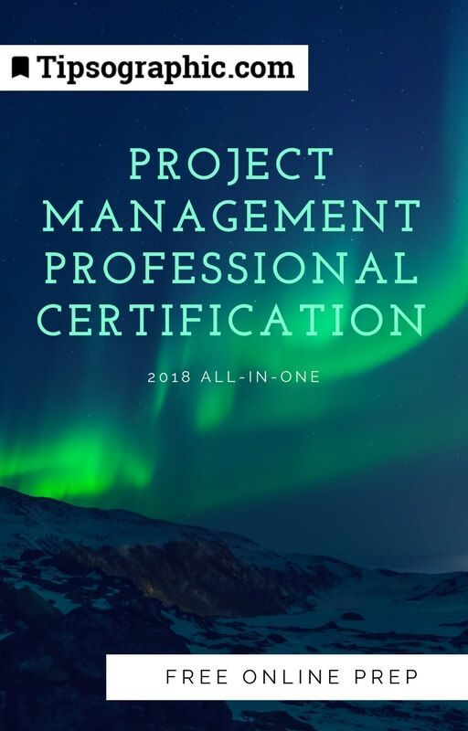 project management professional certification 2018 all-in-one free online prep tipsographic