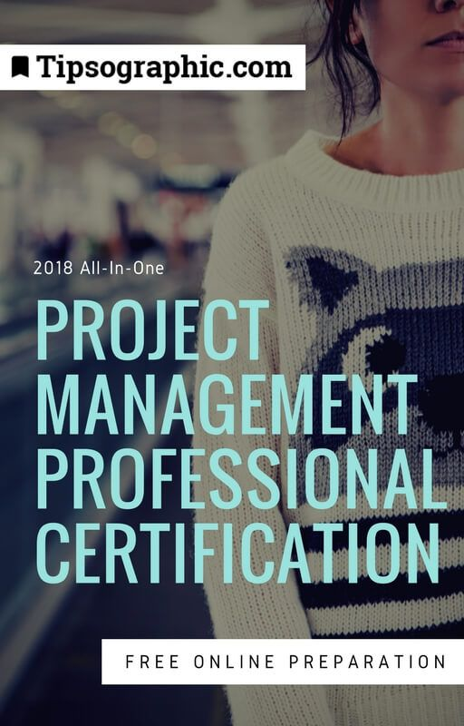 project management professional certification 2018 all-in-one free online preparation tipsographic