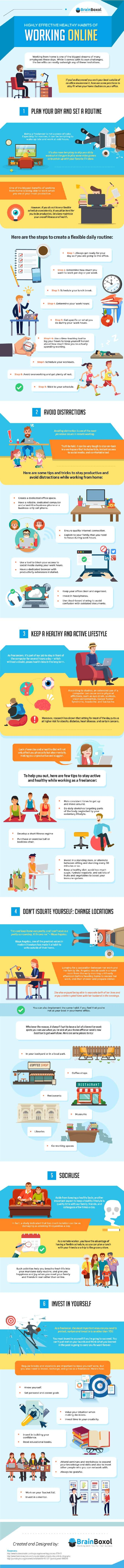 Image titled highly effective healthy habits of working online