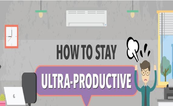 Thumbnail titled how to stay ultra-productive even when your brain wants to retire for the day