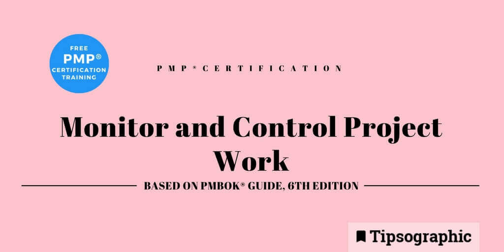 Image titled pmp certification monitor and control project work pmbok guide 6th edition