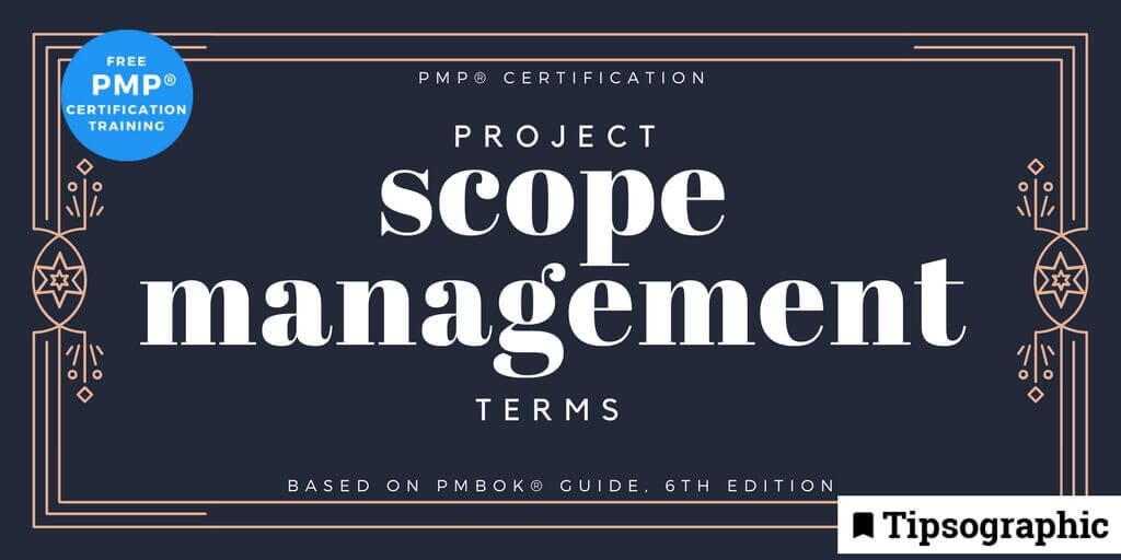 Image titled pmp certification project scope management terms pmbok guide 6th edition