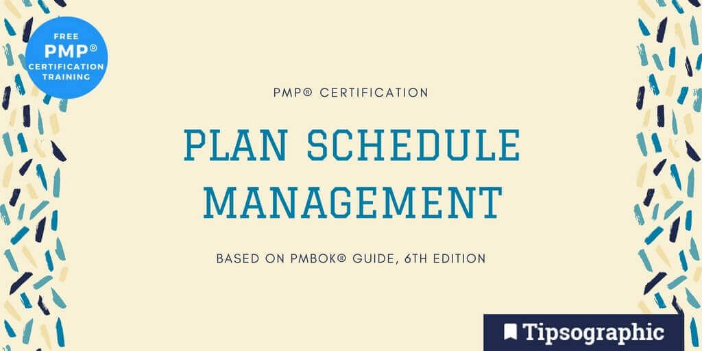 Pmp Certification Plan Schedule Management Based On Pmbok Guide