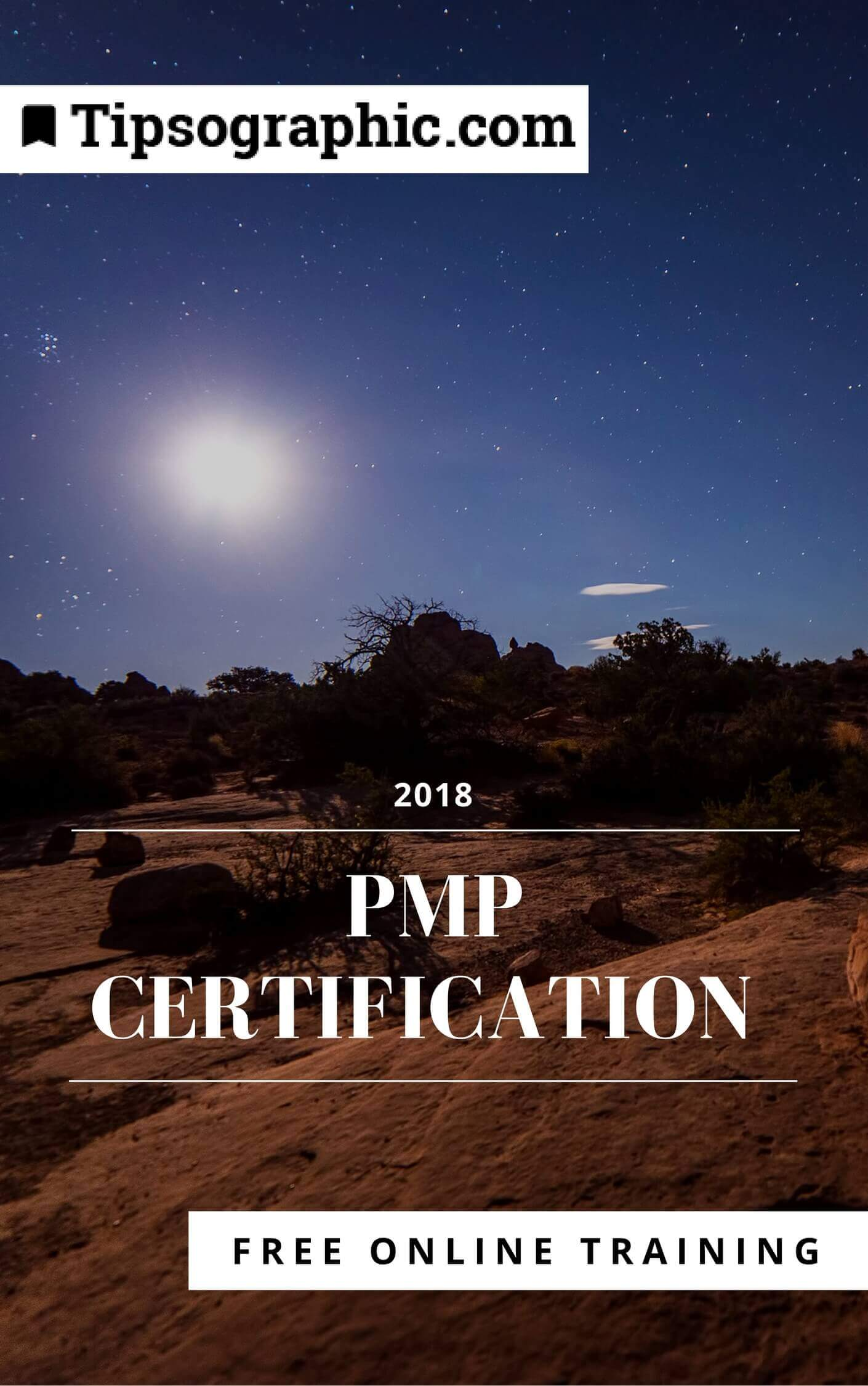 pmp certification 2018 free online training tipsographic