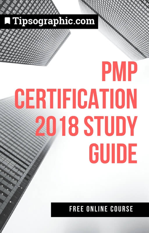 pmp certification 2018 study guide free online course tipsographic