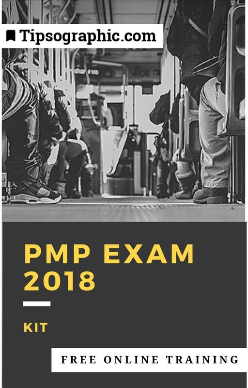 pmp exam 2018 kit free online training tipsographic
