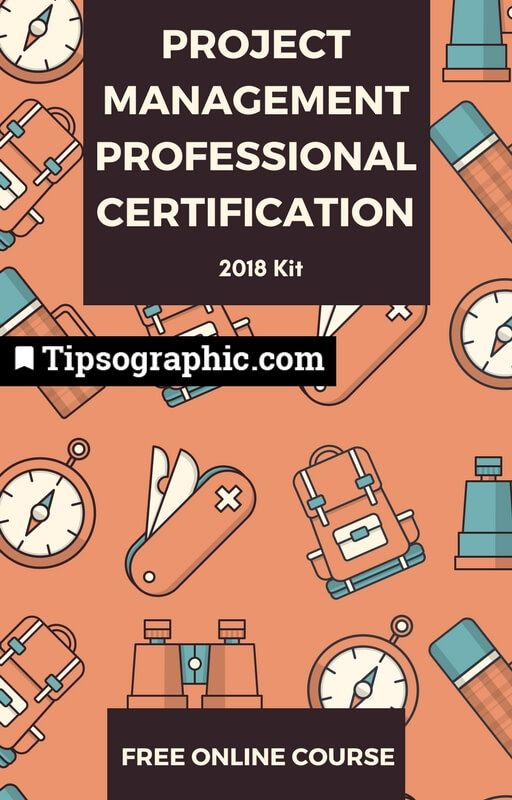 project management professional certification 2018 kit free online course tipsographic
