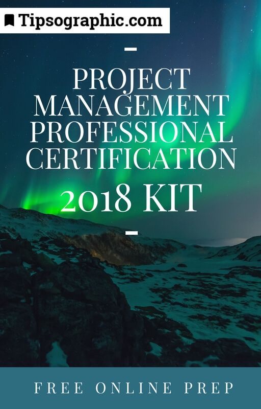 project management professional certification 2018 kit free online prep tipsographic
