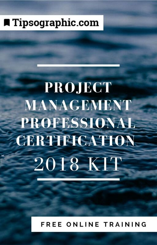 project management professional certification 2018 kit free online training tipsographic