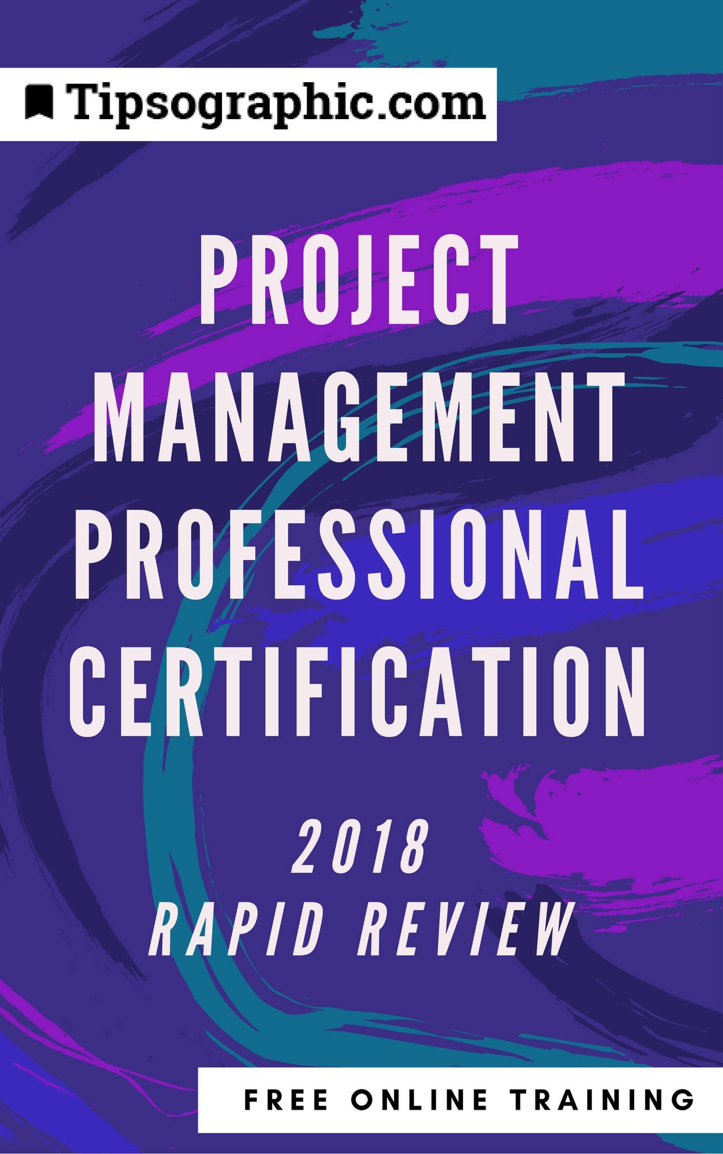 project management professional certification 2018 rapid review free online training tipsographic