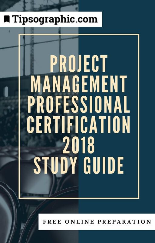 project management professional certification 2018 study guide free online preparation tipsographic