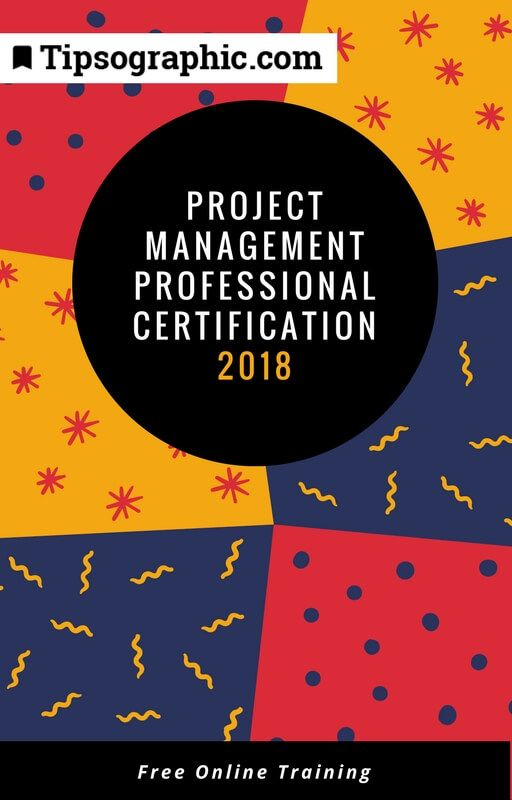 project management professional certification 2018 study guide free online training tipsographic