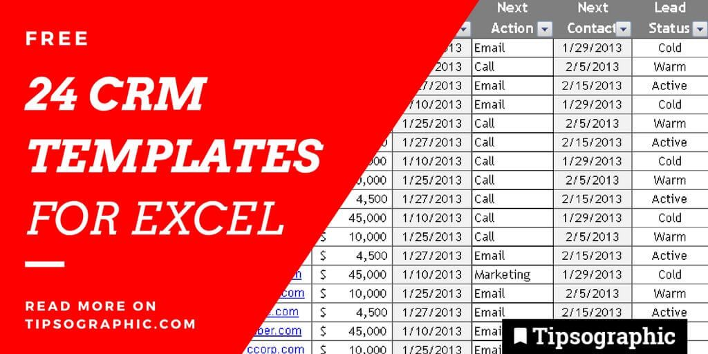 Epic CRM Templates For Excel Free Tipsographic - Crm excel template