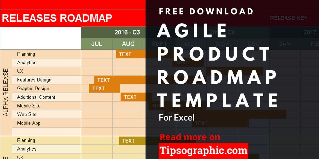 agile product roadmap template excel agile product roadmap excel template free tipsographic