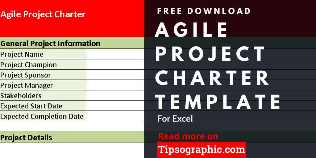 agile project charter template for excel free download tipsographic. Black Bedroom Furniture Sets. Home Design Ideas
