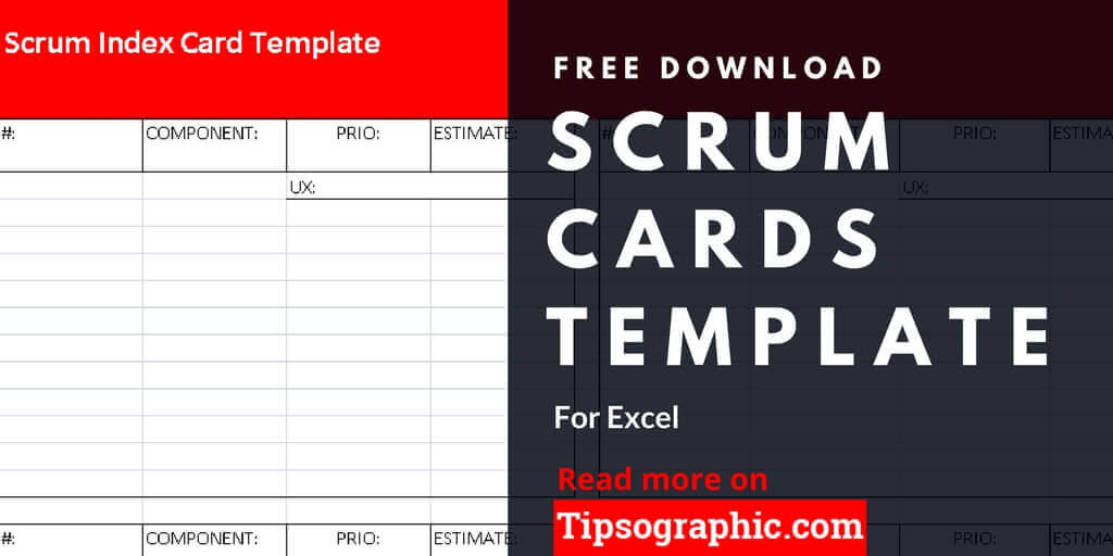 Scrum Cards Template For Excel Free Download Tipsographic
