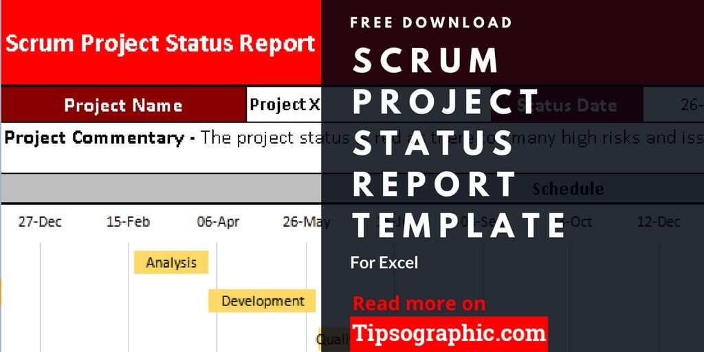 Scrum Project Status Report Template For Excel Free Download