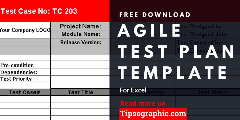agile test plan template for excel free download tipsographic