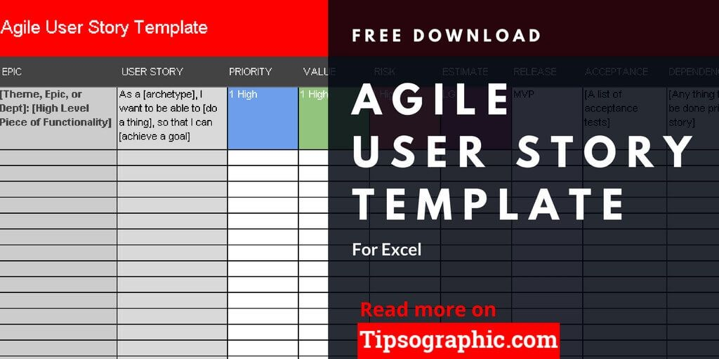 Agile User Story Template For Excel Free Download  Tipsographic