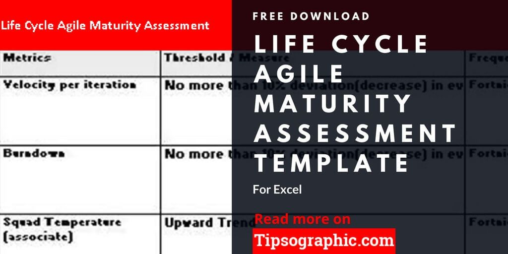 Life Cycle Agile Maturity Assessment Template For Excel