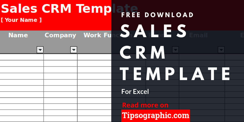 Sales Crm Template For Excel Free Download Tipsographic