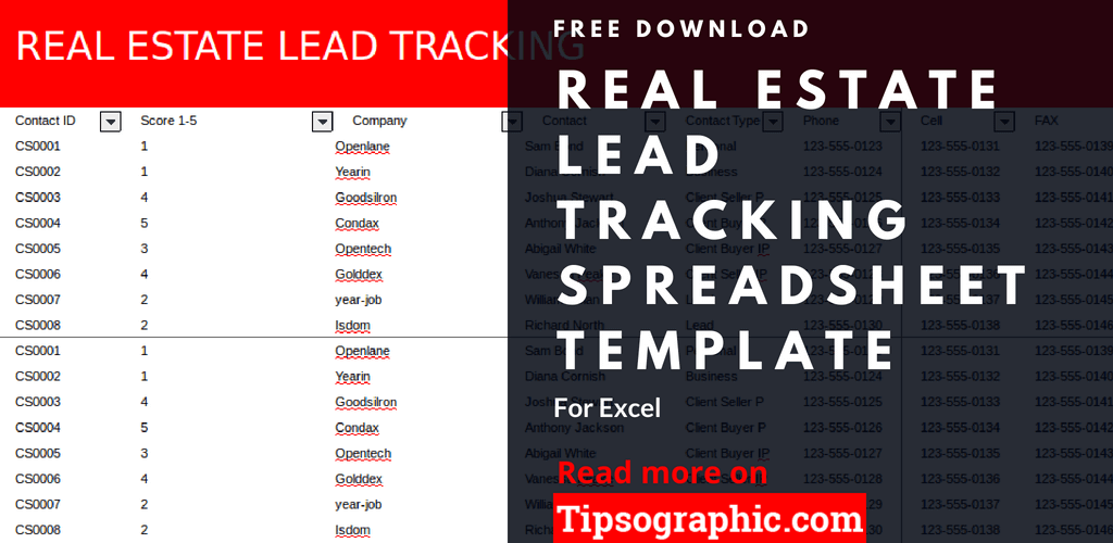 crm real estate lead tracking spreadsheet template excel real estate lead tracking spreadsheet excel free tipsographic thumb